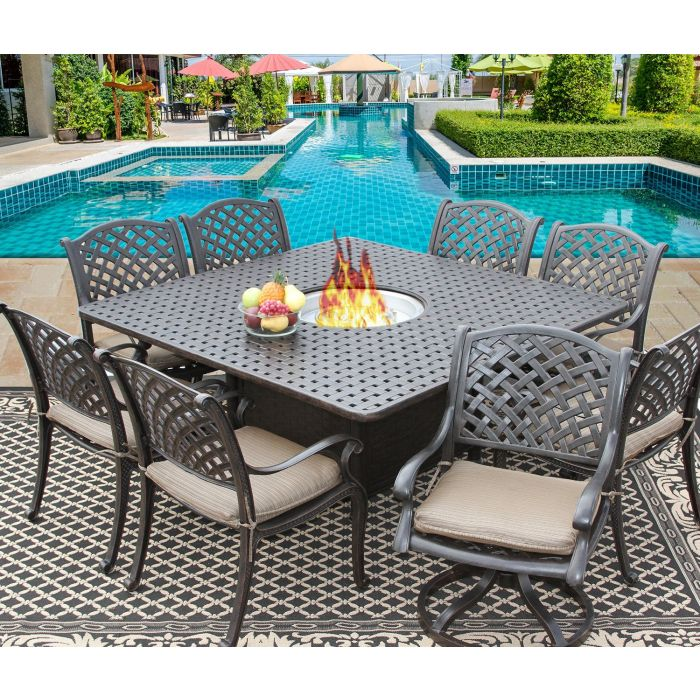8 10 Person Outdoor Dining Set